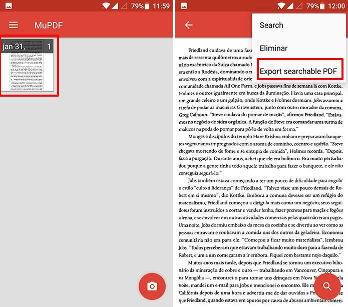 Ctrl-F pode exportar documentos escaneados em formato PDF (Foto: Reprodução/Elson de Souza)