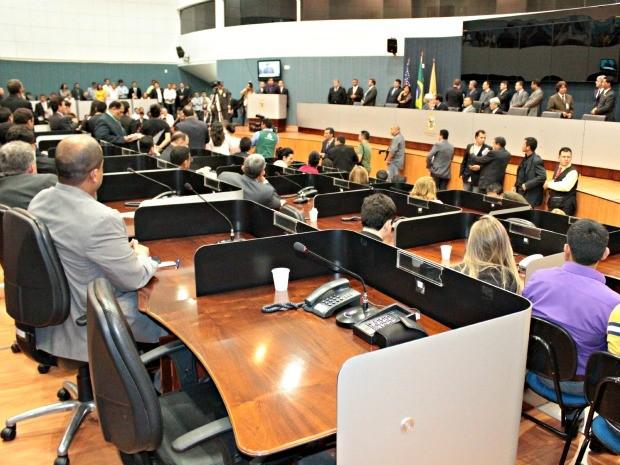 Eleição da mesa diretora da Câmara Municipal de Manaus (Foto: Adneison Severiano G1/AM)