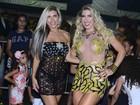 Irmãs Minerato usam looks ousados em noite de samba em São Paulo
