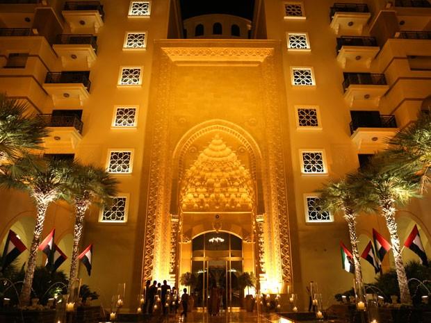 A faixada do mesmo hotel mostra um pouco da arquitetura árabe (Foto: Isabella Pinheiro/Gshow)