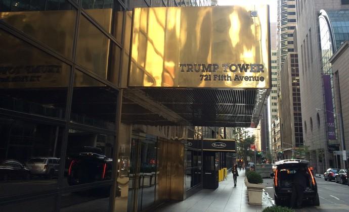 Portaria Trump Tower apartamento José Maria Marin Nova York (Foto: GloboEsporte.com/Martin Fernandez)