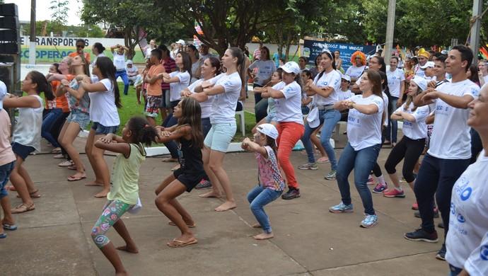 Ação Global em Cacoal (Foto: Rogério Aderbal)