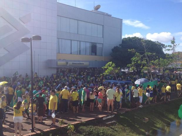 em Macapá, PM e organização calculam mil manifestantes (Foto: ABINOAN SANTIAGO/G1)