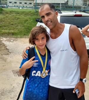 Guga com o meia Felipe; Amapá (Foto: Claudio Sousa/Arquivo Pessoal)