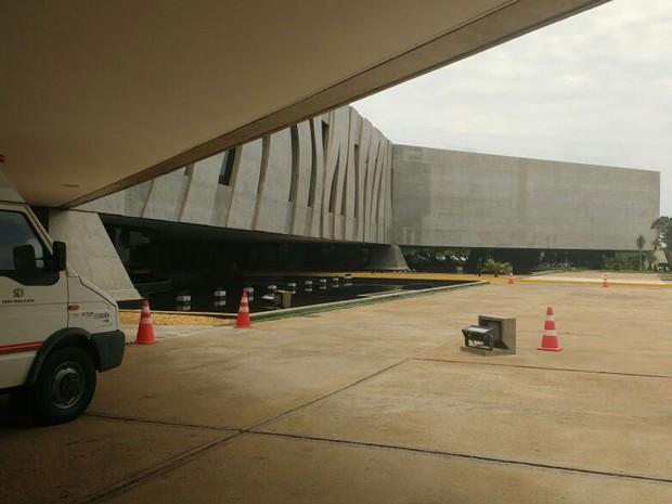 Fachada do Superior Tribunal de Justiça (STJ), em Brasília (Foto: Elielton Lopes/G1)