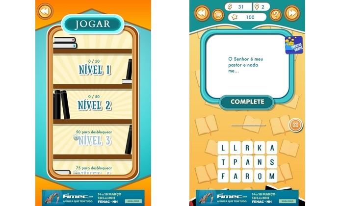Eu sei a B�blia, jogo gratuito para iPhone e Android (Foto: Reprodu��o/Raquel Freire)