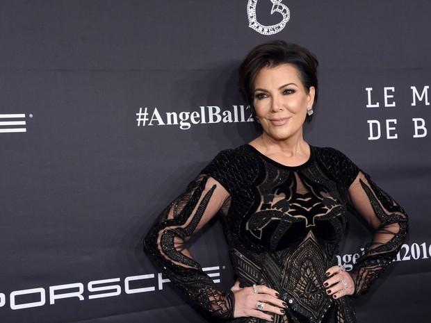 Kris Jenner em evento em Nova York, nos Estados Unidos (Foto: Jamie McCarthy/ Getty Images/ AFP)