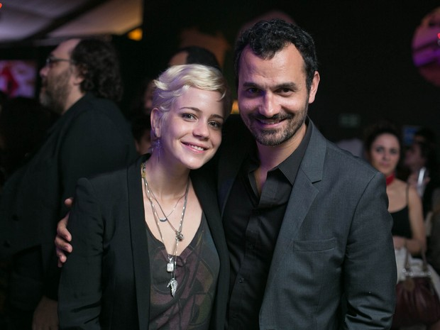 Leandra Leal e Alexandre Youssef em festa de pré-estreia de filme em boate no Rio (Foto: Marcos Samerson / Agência We Love Photo!)