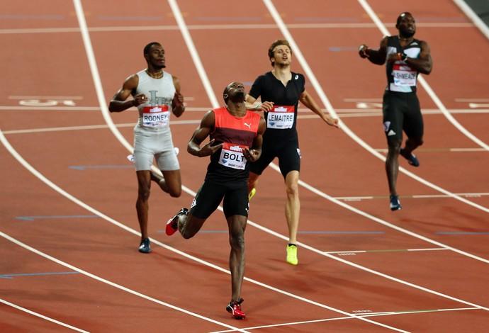 Usain Bolt venceu neste sábado, mas ainda está longe da sua satisfação (Foto: Reuters)
