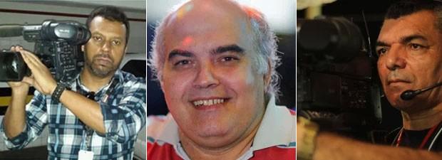 Santiago Andrade, Pedro Palma e José Lacerda da Silva: três dos quatro jornalistas mortos em serviço em 2014 (Foto: Arquivo pessoal)