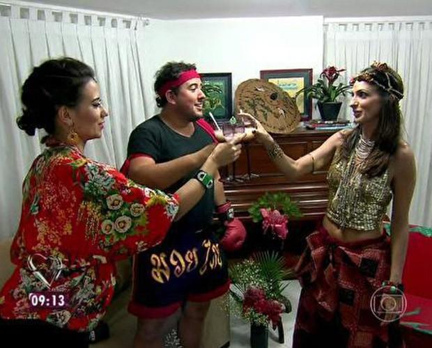 Jantar da Giovanna animou os convidados (Foto: Mais Você / TV Globo)