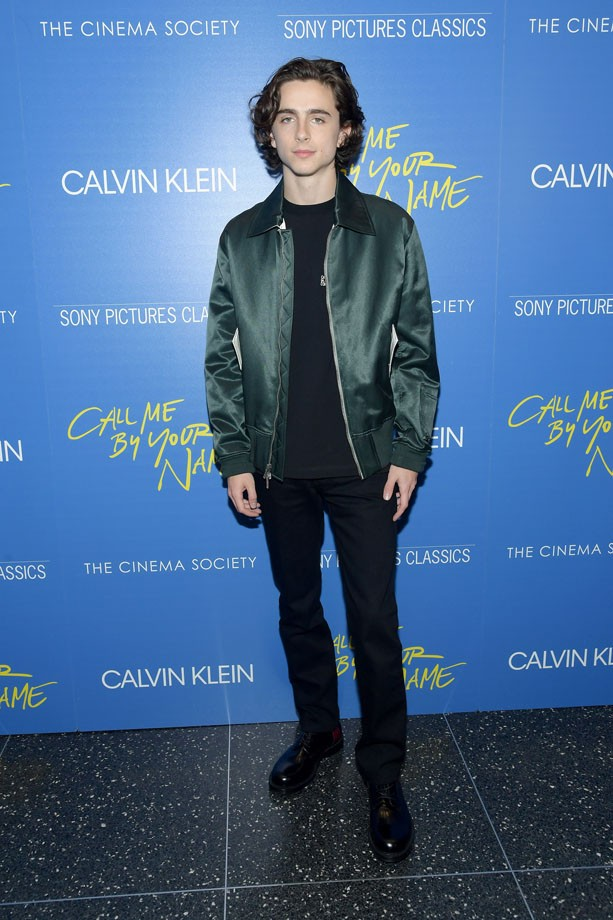 """NEW YORK, NY - NOVEMBER 16:  Actor Timothee Chalamet attends The Cinema Society screening of Sony Pictures Classics' """"Call Me By Your Name"""" at Museum of Modern Art on November 16, 2017 in New York City.  (Photo by Ben Gabbe/Getty Images) (Foto: Getty Images)"""