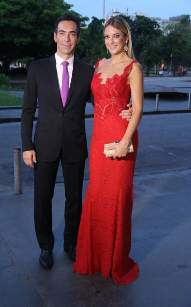 César Tralli e Ticiane Pinheiro (Foto: AgNews / Daniel Pinheiro)