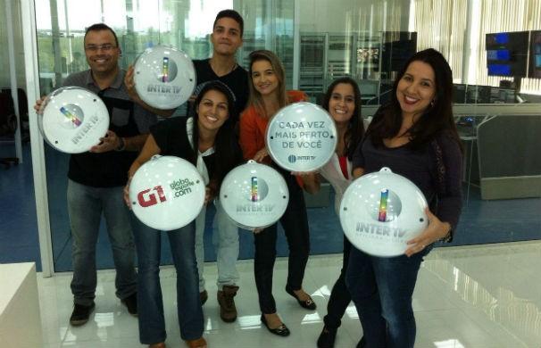 Colaboradores da Inter TV dos Vales estão ansiosos pela estreia do Inter TV Notícia (Foto: André)