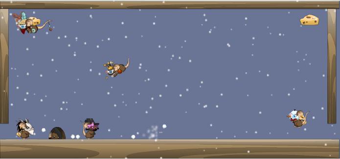 Divirta-se com as bolas de neve em Transformice (Foto: Reprodução)