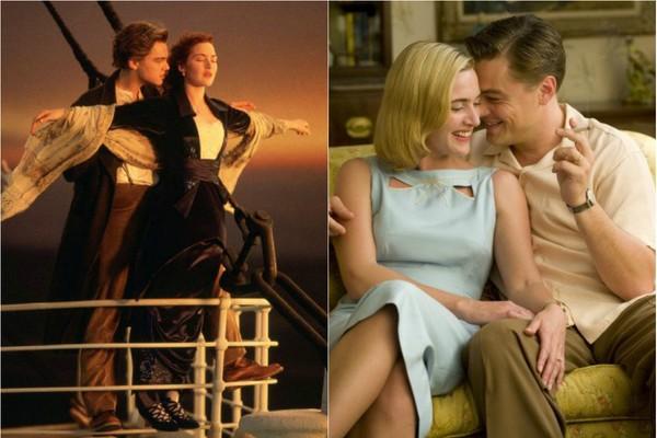 Famosos pelo casal Jack e Rose em 'Titanic' (1997), Kate Winslet e Leonardo DiCaprio voltaram a contracenar onze anos depois, no drama 'Foi Apenas um Sonho' (2008) (Foto: Divulgação)
