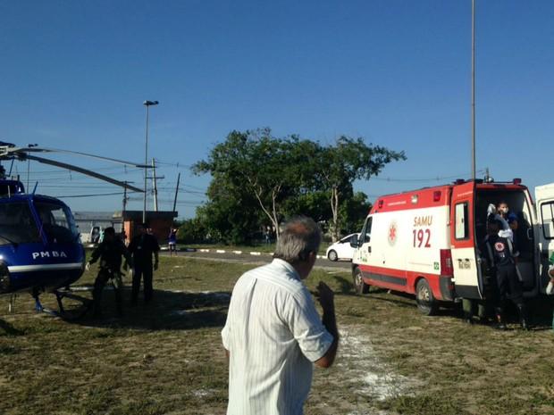 Graer encaminhou vítima de incêndio em Camaçari para o Hospital Geral do Estado, em Salvador (Foto: Divulgação/Graer)