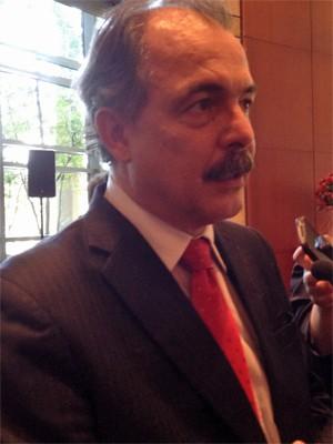 O ministro da Educação, Aloizio Mercadante, durante evento em São Paulo nesta quarta (21) (Foto: Ana Carolina Moreno/G1)
