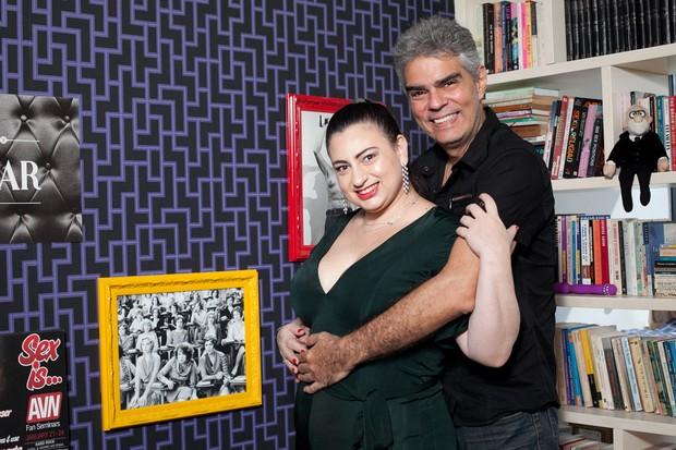 Tatiana Presser e Nizo Neto (Foto: Anderson Barros/EGO)