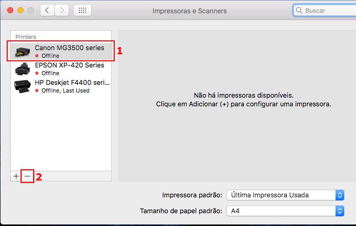 Apagando uma impressora no macOS (Foto: Reprodução/Edivaldo Brito)