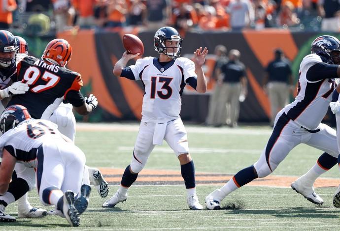 O quarterback Trevor Siemian teve boa atuação na vitória do Denver Broncos (Foto: Getty Images)