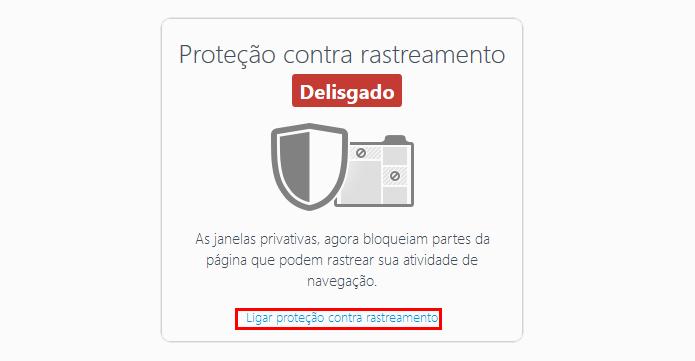 Proteção também pode ser reabilitada na barra de endereços (Foto: Reprodução/Firefox)