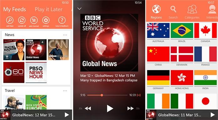 ChannelWize é um aplicativo capaz de reunir todos os seus podcasts em um só lugar (Foto: Divulgação/Windows Phone Store)