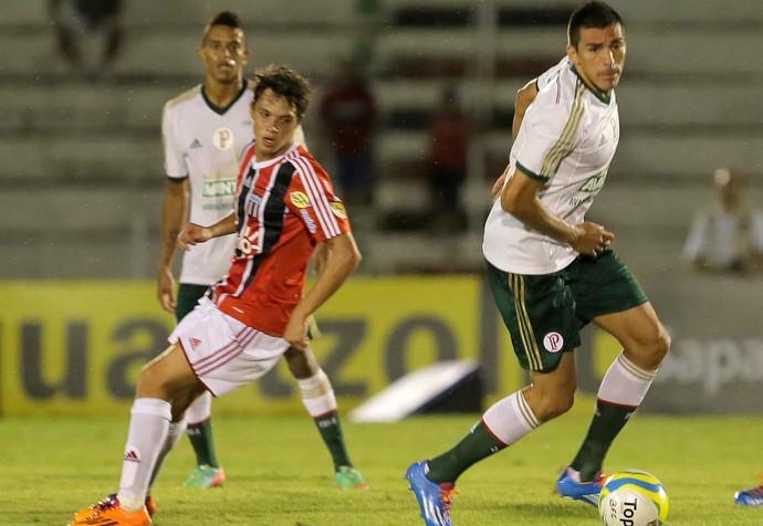 Lucio Palmeiras x Botafogo-SP (Foto: Célio Messias / Ag. Estado)