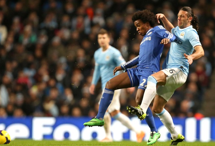 willian chelsea x manchester city (Foto: AP)