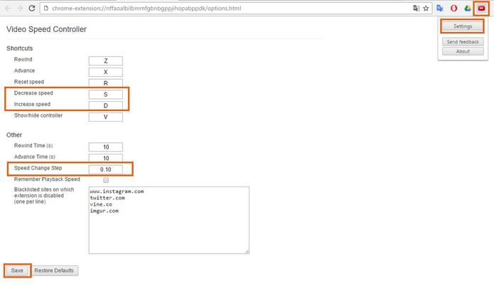Configure o plugin no Google Chrome (Foto: Reprodução/Barbara Mannara)
