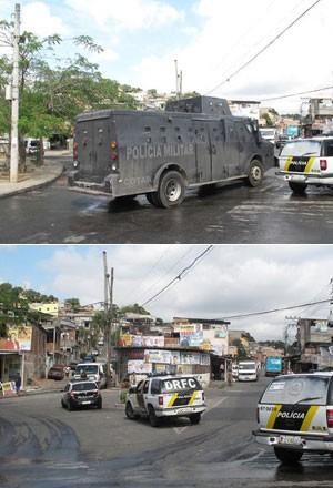Polícia do Rio faz megaoperação para prender criminosos da Chatuba  (Foto: Janaína Carvalho/G1)