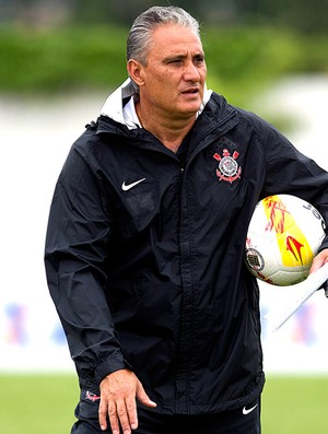 Tite no treino do Corinthians (Foto: Daniel Augusto Jr. / Ag. Corinthians)