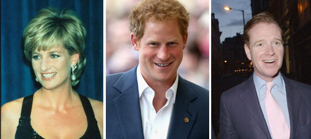 Diana, Harry e James Hewitt (Foto: Getty Images)
