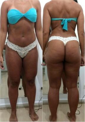 Musa fitness Carol Porcelli mostra seu corpo antes de emagrecer (Foto: Divulgação / MF Assessoria)