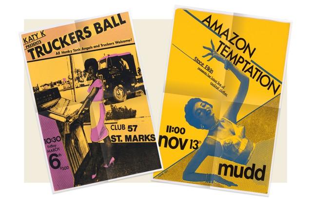 Dois pôsteres do artista John Sex, de 1980 e 1981 (Foto: Joseph Szkodzinski, Moma, Cortesia De Kenny Scharf e Da Galeria Honor Fraser, Getty Images, Divulgação e Gary Burden)