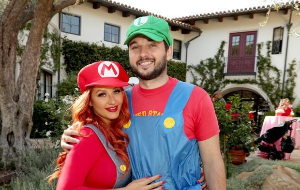 Christina Aguilera e Matthew Rutler (Foto: Christopher Polk/Getty Images)