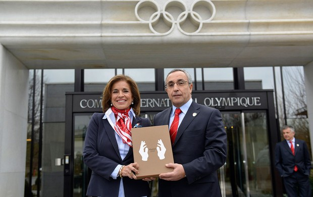 representantes de Madri candidatura Olimpíadas 2020 (Foto: AFP)