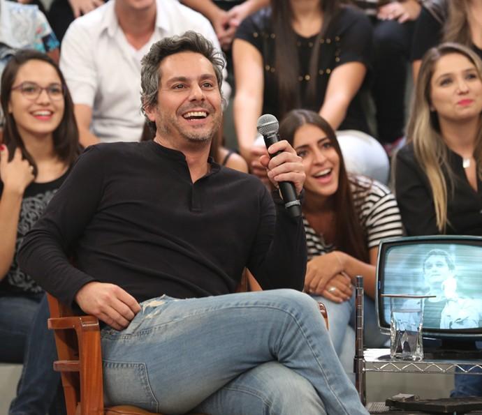 Alexandre Nero participa da gravação do Altas Horas (Foto: Carol Caminha/Gshow)