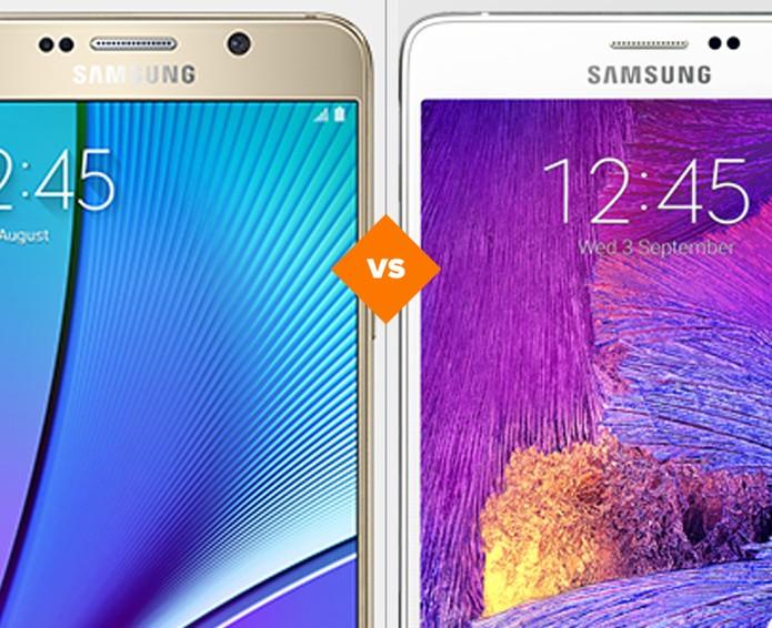 Galaxy Note 4 ou Galaxy Note 5? Veja qual smart da Samsung leva a melhor (Foto: Arte/TechTudo)