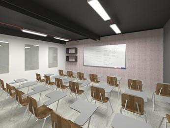 Projeto de como será a sala de aula de idiomas para travestir e prostitutas em Belo Horizonte (Foto: Lucas Catta Prêta/Globoesporte.com/MG)
