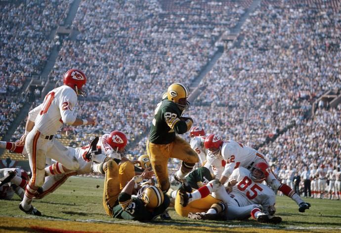 O Super Bowl I foi vencido pelo Green Bay Packers por 35 a 10 sobre o Kansas City Chiefs (Foto: Getty Images)
