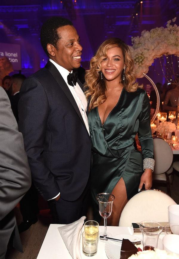 Jay-Z e Beyoncé durante a festa organizada por Rihanna (Foto: Getty Images)