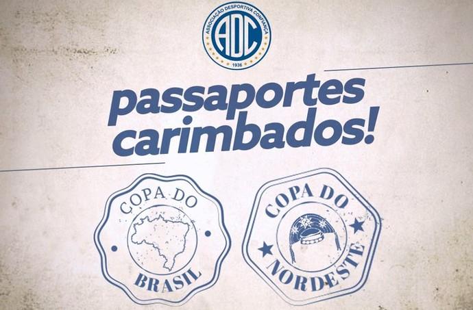 Confiança, passaportes carimbados (Foto: Divulgação/ADC)