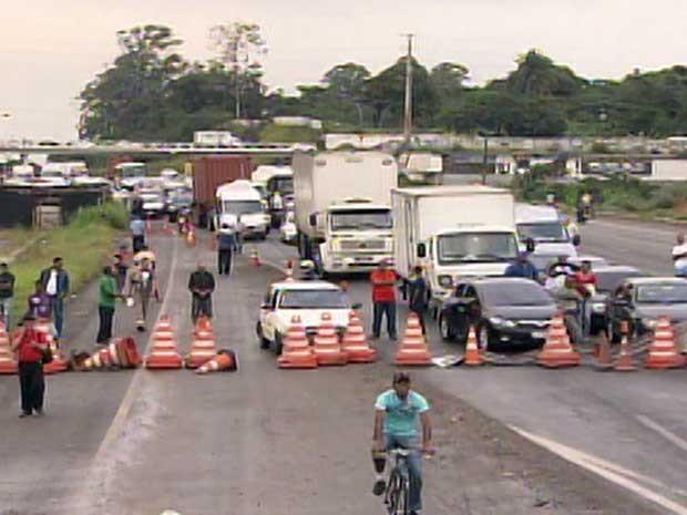 Protesto (Foto: Reprodução/TV Bahia)