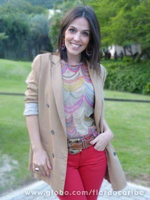 Karen Brusttolin (Foto: Flor do Caribe / TV Globo)