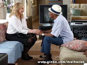 Os personagens de Antônio Pitanga e Arlete Salles se reencontram depois de décadas separados (Foto: Malhação / TV Globo)