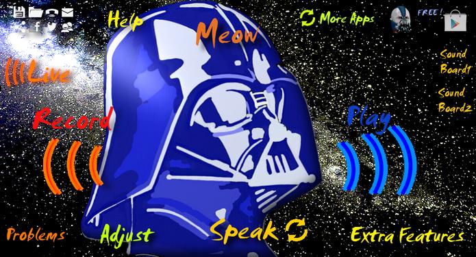 Com o app Darth Vader Voice Changer, você cria áudios com a voz do vilão Darth Vader (Foto: Divulgação/ Darth Vader Voice Changer)
