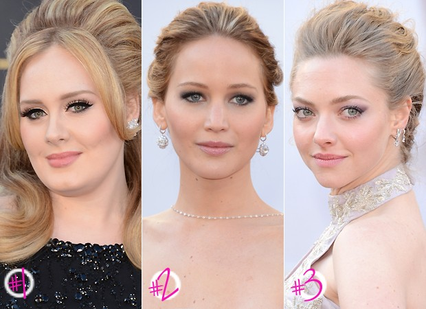 #1 Adele; #2 Jennifer Lawrence; #3 Amanda Seyfried (Foto: Getty Images)