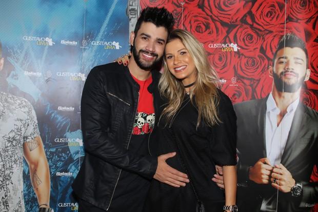 Gusttavo Lima e Andressa Suita (Foto: Thiago Duran/ Ag. News)