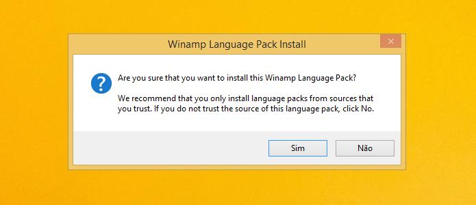 Instalando pacote de idiomas (Foto: Reprodução/Helito Bijora)